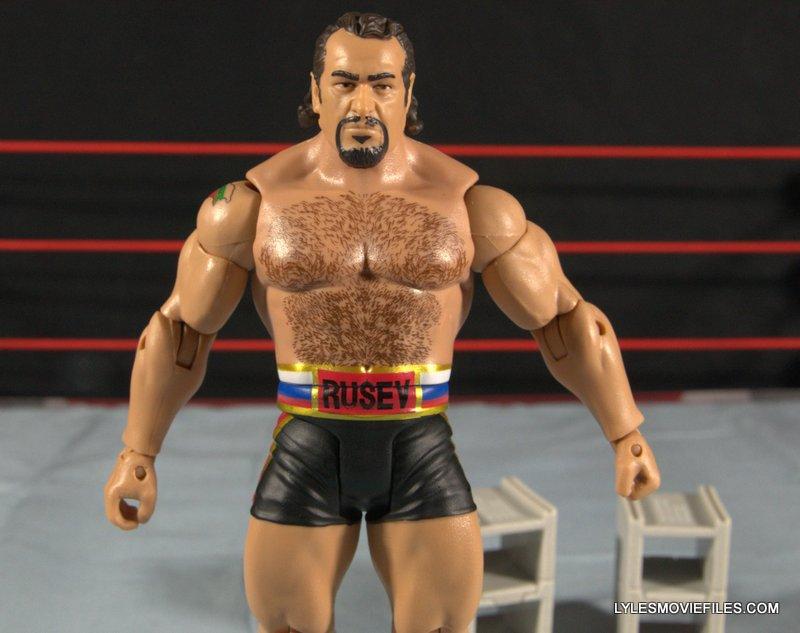 Mattel WWE Lana and Rusev Battle Pack -close up Rusev
