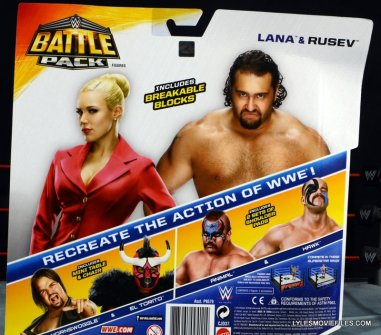 Mattel WWE Lana and Rusev Battle Pack -rear package