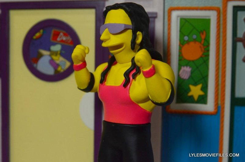 The Simpsons NECA Bret Hart - arms up