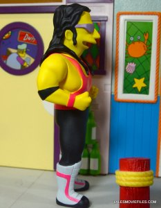 The Simpsons NECA Bret Hart - right side detail