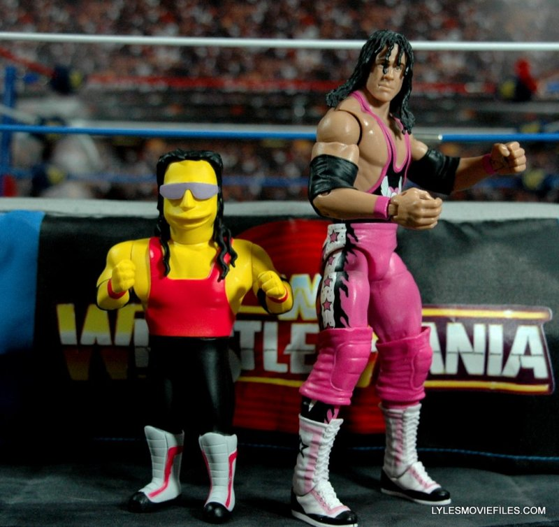 The Simpsons NECA Bret Hart - with Mattel Bret Hart