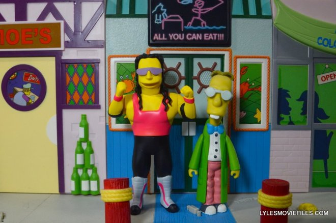 The Simpsons NECA Bret Hart - with Professor Frink 2