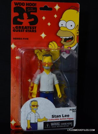 The Simpsons NECA Stan Lee figure - front package