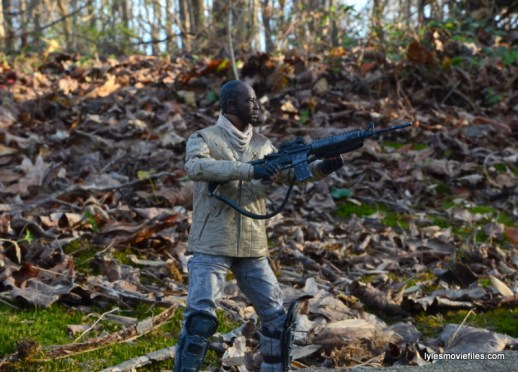 The Walking Dead Morgan Jones McFarlane Toys figure review -aiming gun