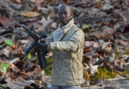 The Walking Dead Morgan Jones McFarlane Toys figure review -taking aim