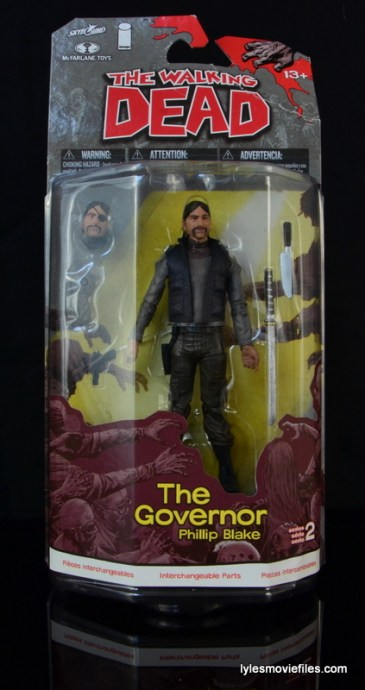 The Walking Dead The Governor McFarlane Toys review - front package