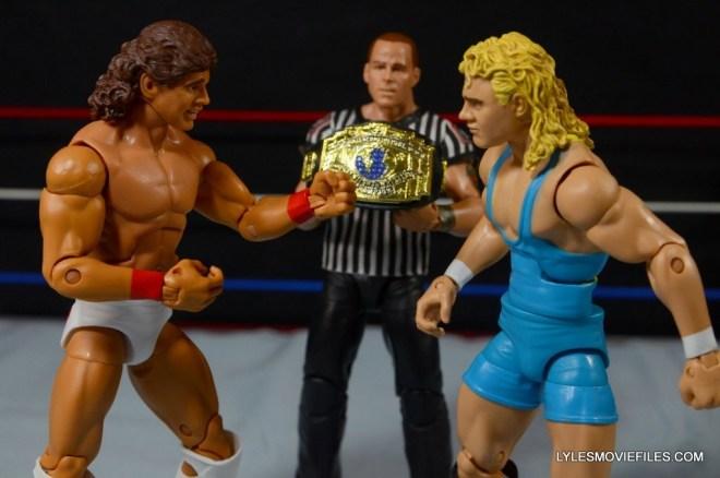 Tito Santana Mattel Hall of Fame figure -facing Mr. Perfect in Intercontinental title final
