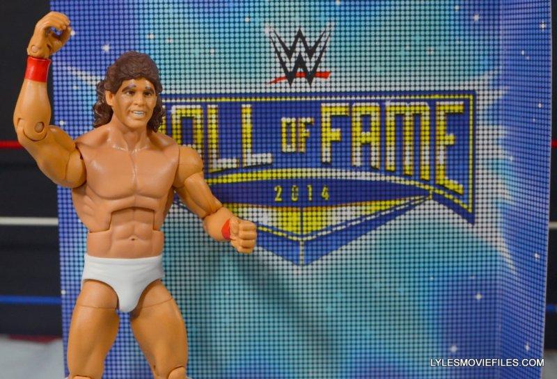Tito Santana Mattel Hall of Fame figure -with Hall of Fame sign
