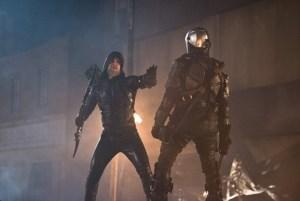 dc's legends of tomorrow - star city 2046 review - green arrow vs deathstroke