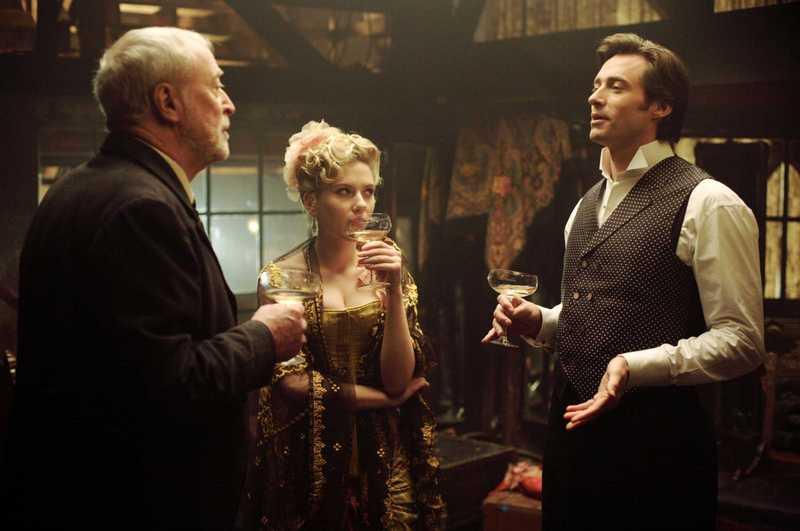 (L-R) Michael Caine, Scarlett Johansson, Hugh Jackman