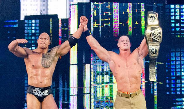 wrestlemania 29 - the rock and john cena