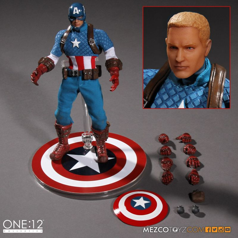 Captain America Mezco Toys 1-12 figure -accessories