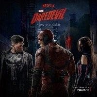 Marvel Netflix Daredevil Season 2 poster - The Punisher, Daredevil and Elektra