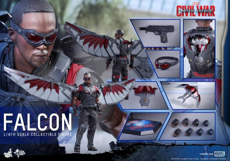 Hot Toys Captain America Civil War Falcon figure - collage