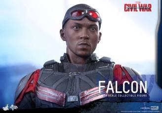 Hot Toys Captain America Civil War Falcon figure -profile shot