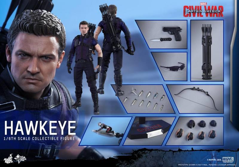 Hot Toys Captain America Civil War Hawkeye figure -collage