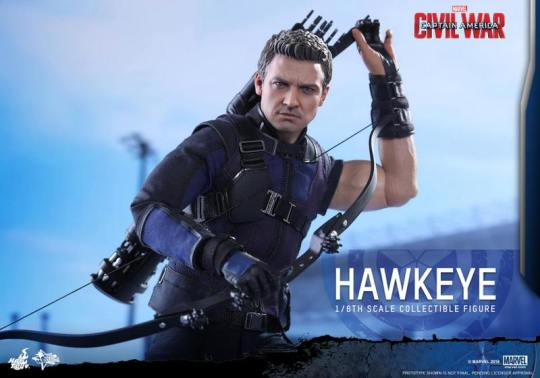 Hot Toys Captain America Civil War Hawkeye figure -reaching for arrows