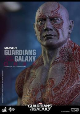 Hot Toys Guardian of the Galaxy Drax figure -head detail
