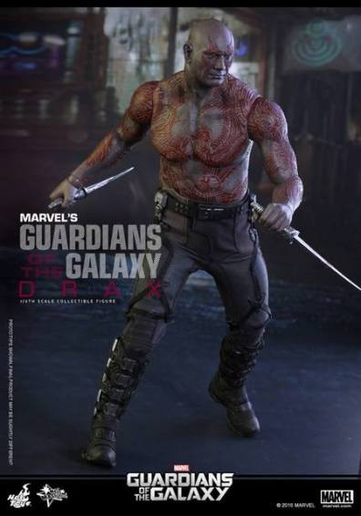 Hot Toys Guardian of the Galaxy Drax figure -moving to battle