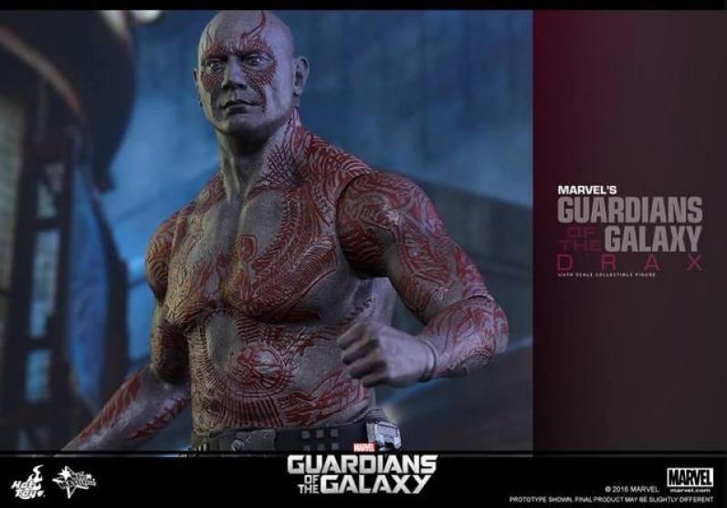 Hot Toys Guardian of the Galaxy Drax figure -upper half