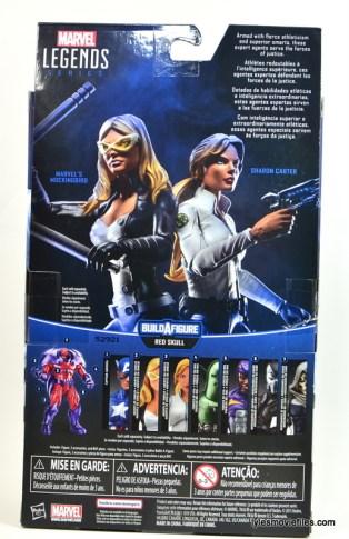 Marvel Legends Mockingbird figure review - rear package