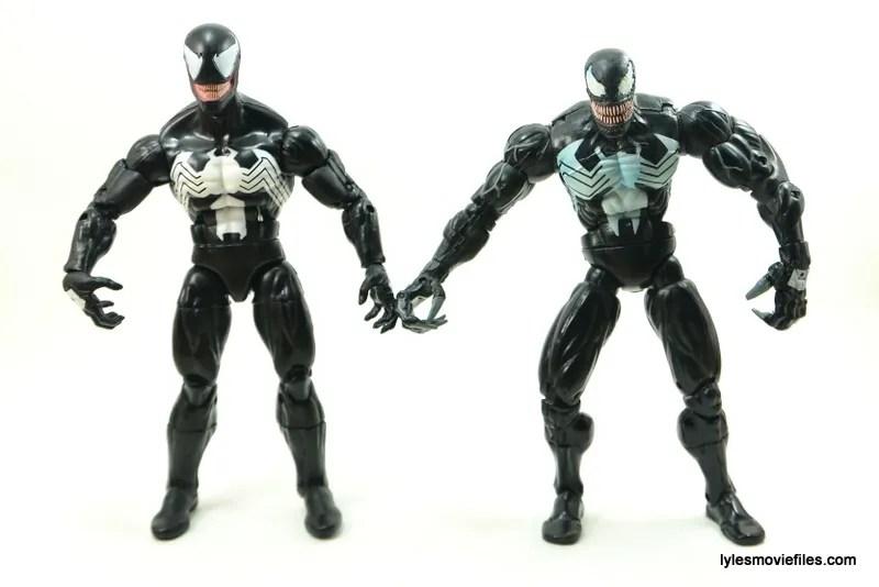 Marvel Legends Venom figure review - Hasbro Venom and Toy Biz Venom