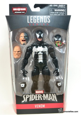 Marvel Legends Venom figure review - front package
