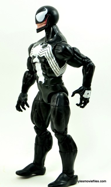 Marvel Legends Venom figure review - left side