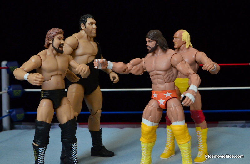 Mattel Ted DiBiase Hall of Fame figure review - MegaBucks vs MegaPowers