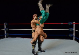 Mattel Ted DiBiase Hall of Fame figure review - piledriver to Jake the Snake Roberts