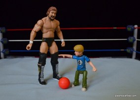 Mattel Ted DiBiase Hall of Fame figure review - playing basketball