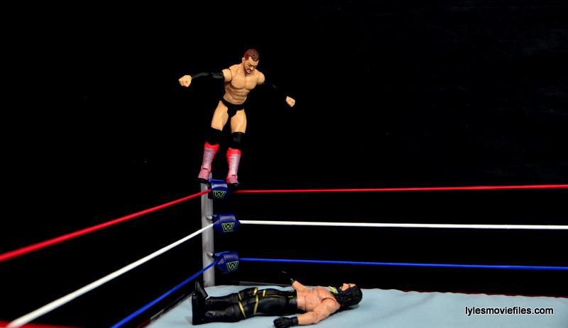 WWE Basic Finn Balor figure review -coup de grace to Seth Rollins