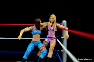 WWE Bayley figure review - elbowing Emma