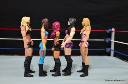 WWE Bayley figure review - scale with Charlotte, Sasha Banks, Paige and Emma