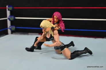 WWE Sasha Banks figure review - bank statement to Charlotte