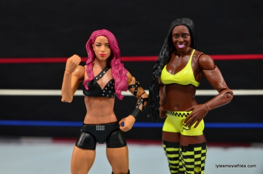 WWE Sasha Banks figure review - hanging with Naomi