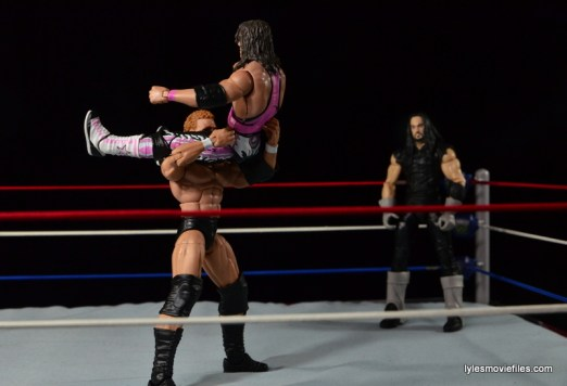 Wrestlemania 13 - Sycho Sid vs The Undertaker -powerbombing Bret Hart