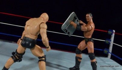 Wrestlemania 15 - The Rock vs Stone Cold -Rock goes for a chair