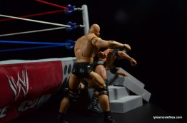 Wrestlemania 15 - The Rock vs Stone Cold -Rock goes into the steps