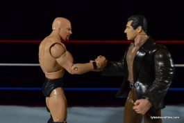 Wrestlemania 17 - The Rock vs Stone Cold - Austin and Vince shake