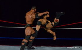 Wrestlemania 17 - The Rock vs Stone Cold - clothesline to the outside