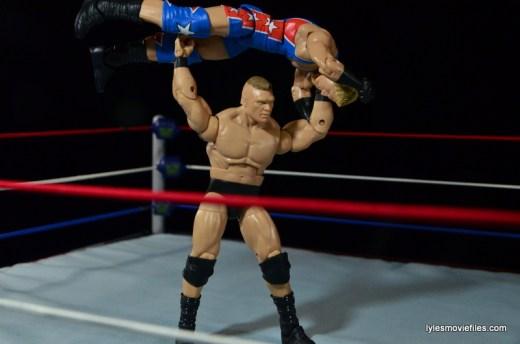 Wrestlemania 19 - Brock Lesnar vs Kurt Angle - Lesnar press slams Angle