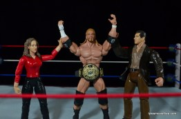 Wrestlemania 2000 - Mick Foley vs The Rock vs The Big Show vs Triple H - Triple H celebrates with Stephanie and Vince McMahon
