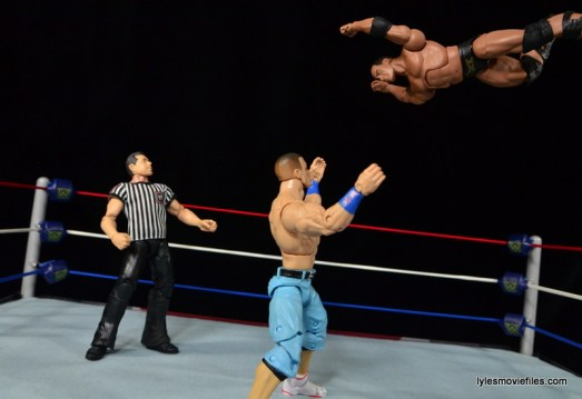 Wrestlemania 28 - The Rock vs John Cena - The Rock flies