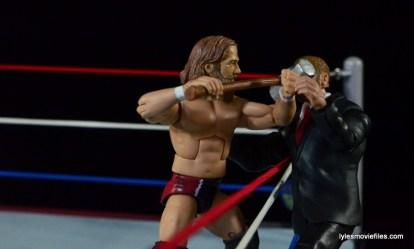 Wrestlemania 30 - Daniel Bryan vs Randy Orton vs Batista -Triple H eats a sledgehammer