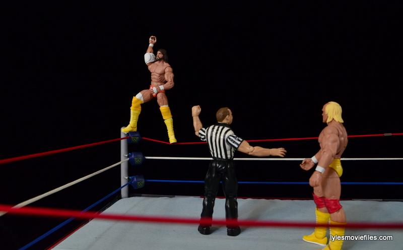 Wrestlemania 5 - Hullk Hogan vs Macho Man - Randy Savage posing