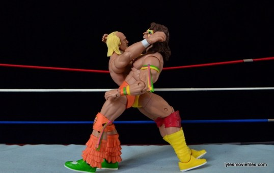 Wrestlemania 6 - Hulk Hogan vs The Ultimate Warrior - double clothesline