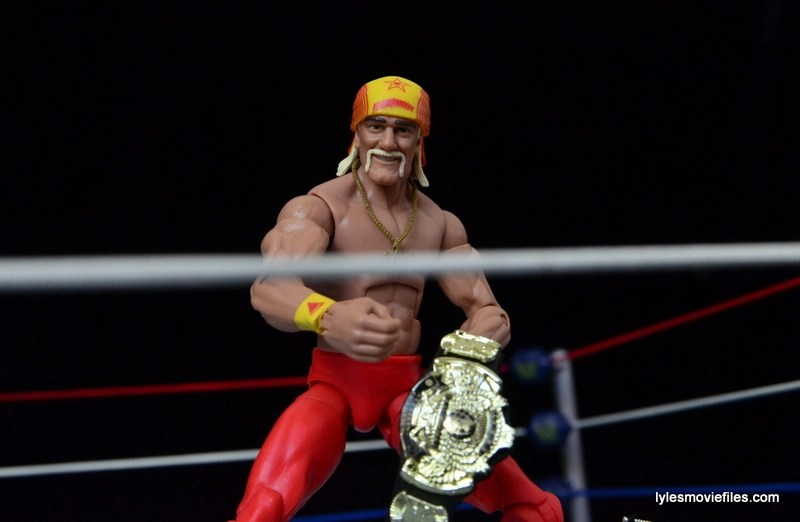 Wrestlemania 9 - Hogan with WWF title