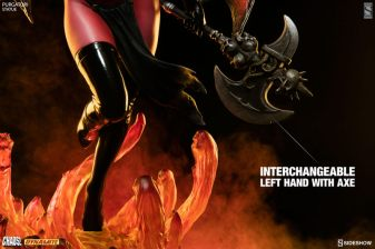 purgatori-statue-dynamite-feature - axe hand closeup