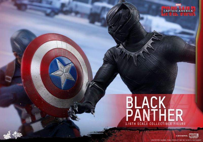 Hot Toys Black Panther figure -vs Captain America